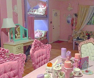 room, pink, and pastel image