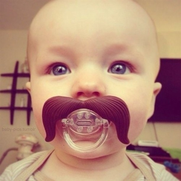 baby, mustache, and cute image
