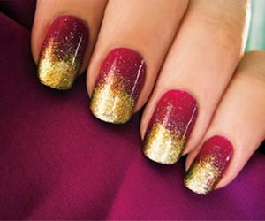 nails, nail art, and gold image