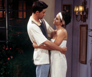 chandler, hug, and monica image