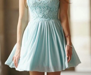 dress, fashion, and blue image