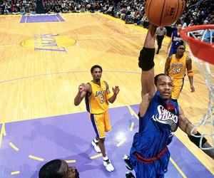 allen iverson, Basketball, and dunk image