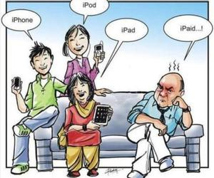 funny, iphone, and ipad image