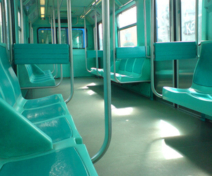 train, green, and blue image