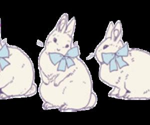 bunny, drawing, and rabbit image