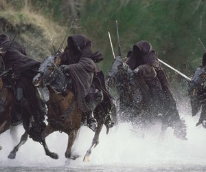 lord of the rings, nazgul, and horses image