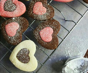 hearts, Cookies, and food image