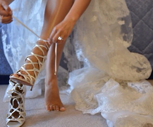 dress, lace, and shoes image