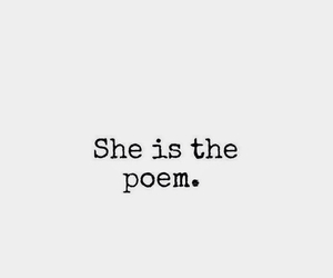 poem, quotes, and she image