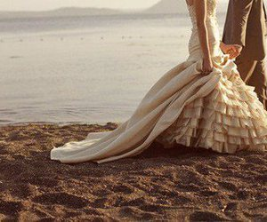 love, beach, and wedding image