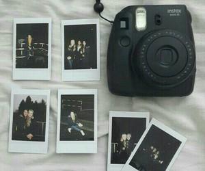 black, polaroid, and camera image