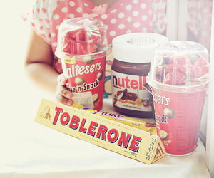nutella, toblerone, and food image