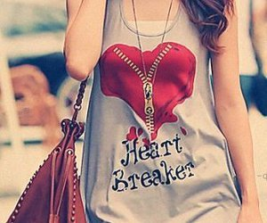 girl, heart, and heart breaker image