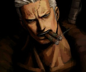 one piece, smoker, and marine image