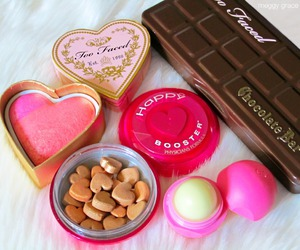 chocolate, eos, and makeup image
