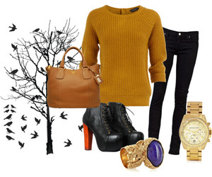 autumn, Polyvore, and look image