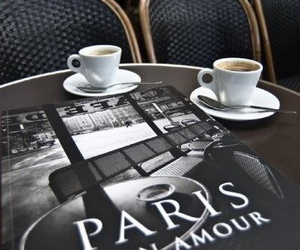 coffee, paris, and drink image