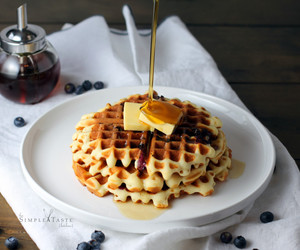 food, waffles, and dessert image