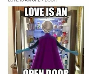 frozen, love, and fridge image