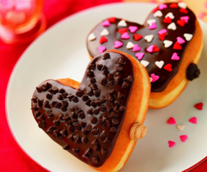food, heart, and chocolate image