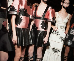 Alexander McQueen, backstage, and models image