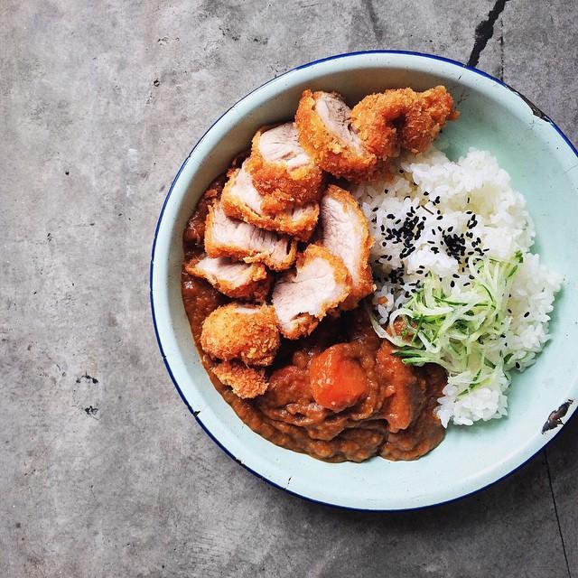 curry, rice, and katsu image