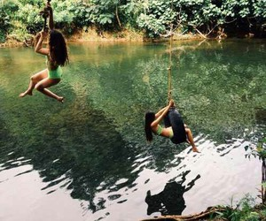 fun, girls, and nature image