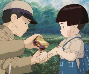ghibli, grave of the fireflies, and emotionally crippled image