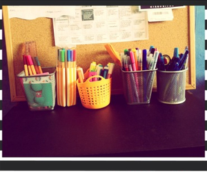 happy, pen, and pensil image
