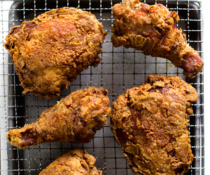 Chicken, fried chicken, and indian food image