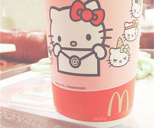 hello kitty, kawaii, and McDonalds image