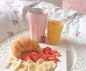banana, bed, and food image