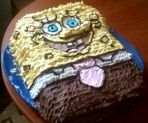 cake and spongebob image