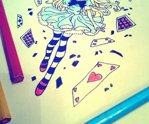 alice in wonderland, colors, and drawing image