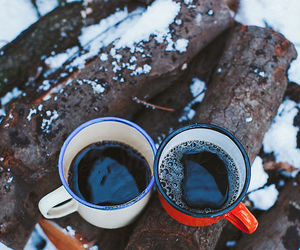 coffee, couples, and dark image