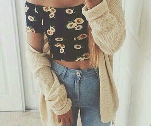 clothes, flowers, and cute image