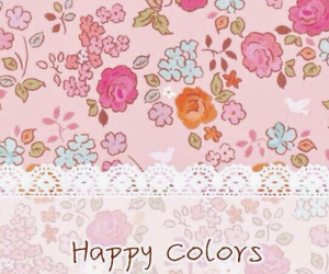 background, floral, and lace image