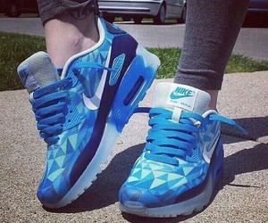 shoes, blue, and nike image