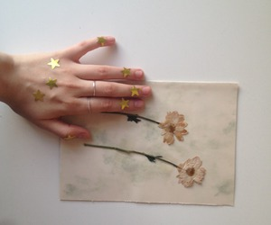 flowers, hands, and stars image