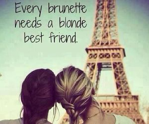 blonde, brunette, and friends image