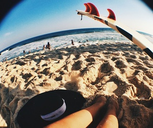 beach, surf, and vibe image
