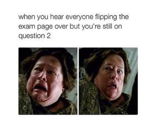 exam, funny, and question image