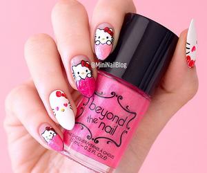 hello kitty, kawaii, and nails image