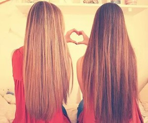 best friend and that hair :'o image