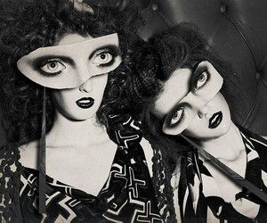 mask, black and white, and blogspot image