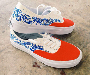 vans, blue, and red image