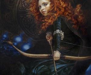 disney, brave, and merida image