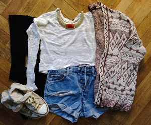 cardigan, cinema, and clothes image