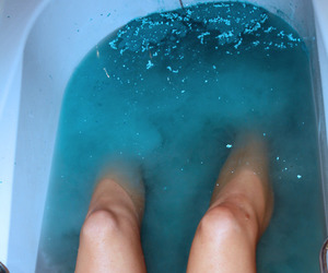 legs, water, and blue image