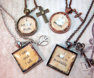 affirmation, quote, and necklace image